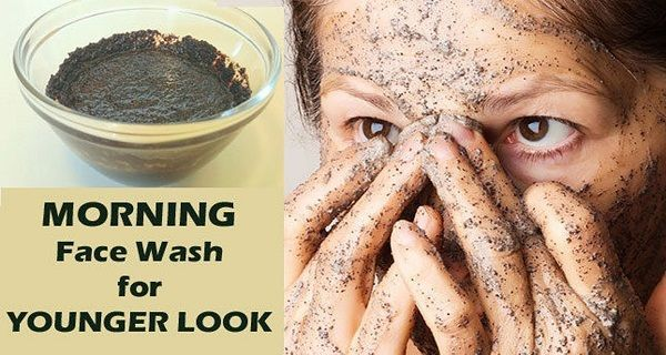 Morning face wash for younger look